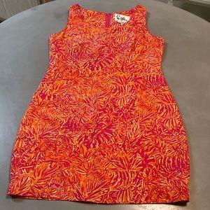 Lilly Pulitzer Silk Tiger Floral Pattern Dress